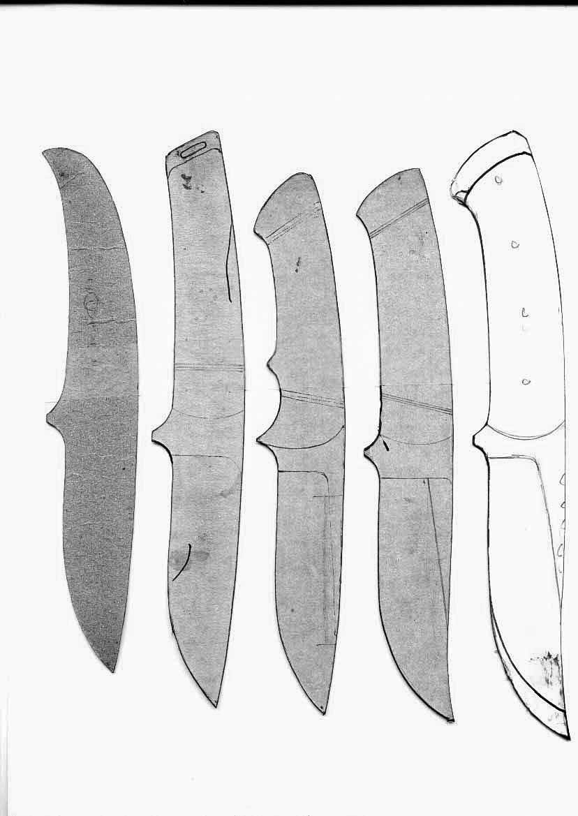 lloyd harding's knife templates