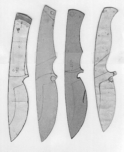 Lloyd Harding\'s Knife templates